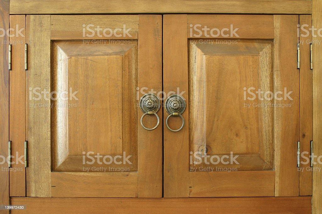 Wooden doors royalty-free stock photo