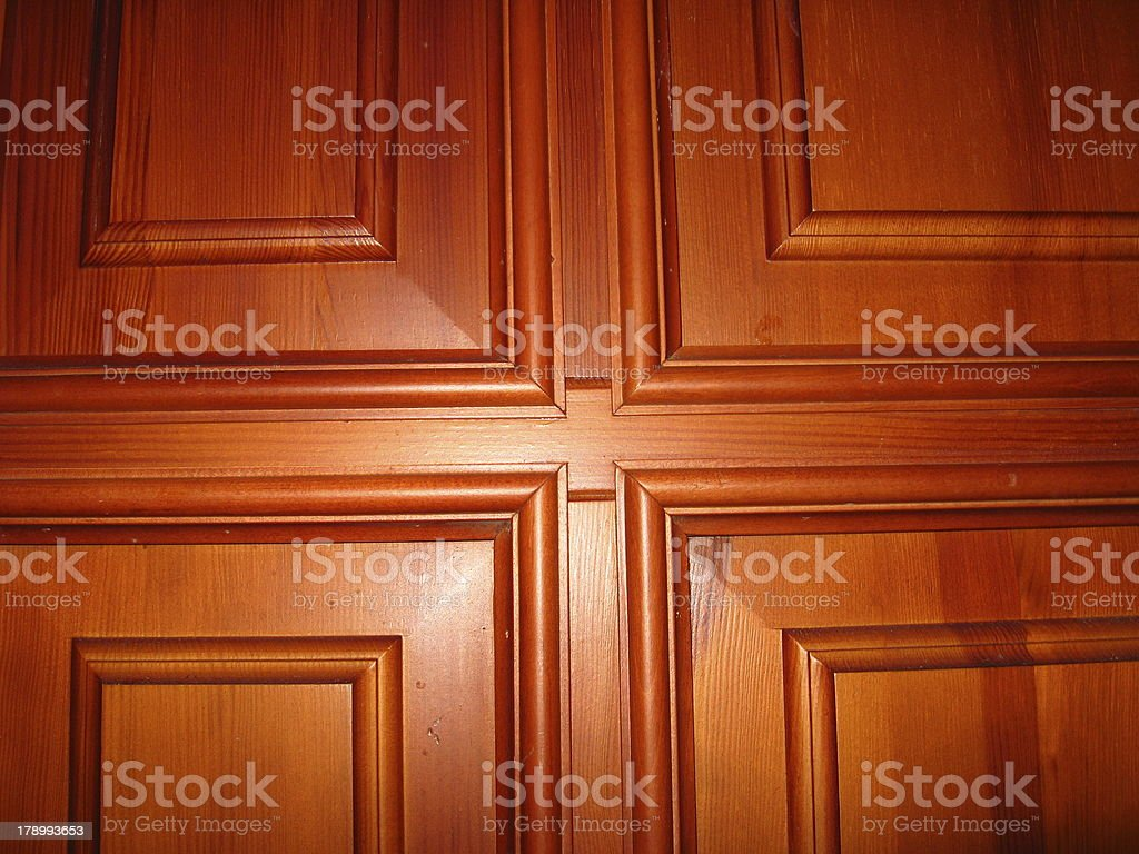 wooden doors with pattern of cross royalty-free stock photo