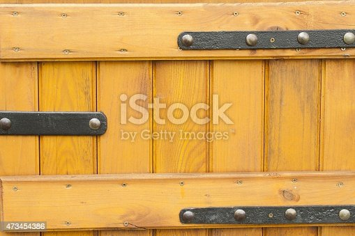 894368086 istock photo wooden doors with wrought iron, painted doors to the well 473454386