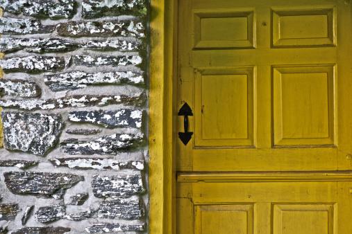 Wooden Doorway Stock Photo & More Pictures of Brick