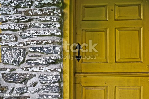 Wooden Doorway Stock Photo & More Pictures of Brick