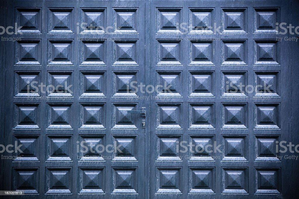 Wooden Double Doors stock photo