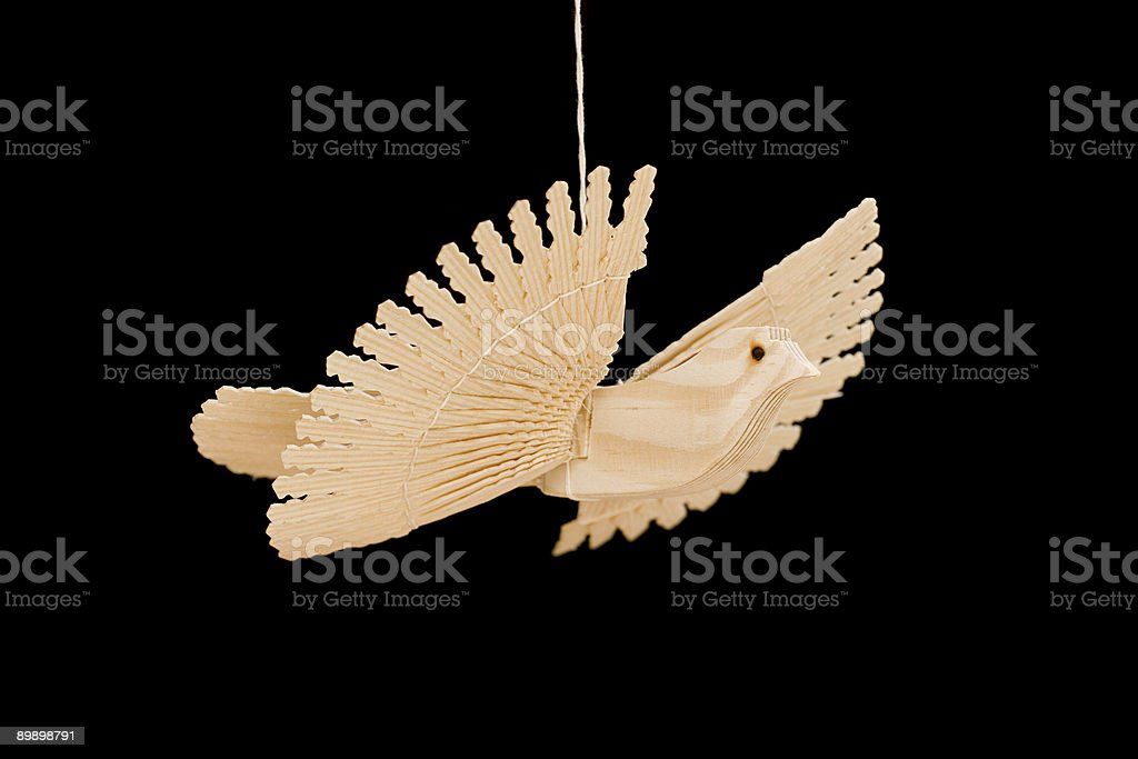 Wooden dove royalty-free stock photo