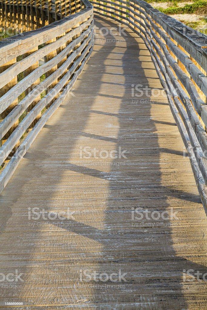 Wooden Dune Boardwalk stock photo