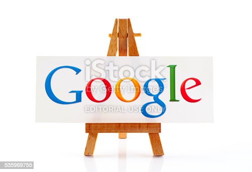 istock Wooden easel with word Google 535969755