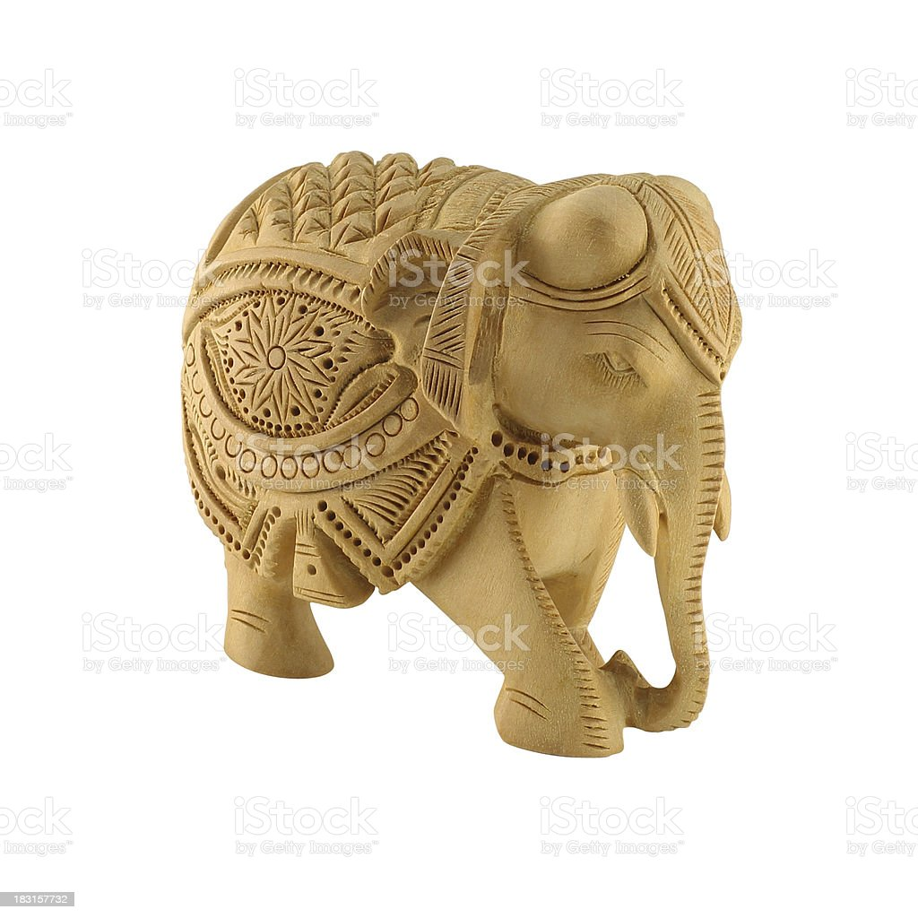 Wooden elephant stock photo