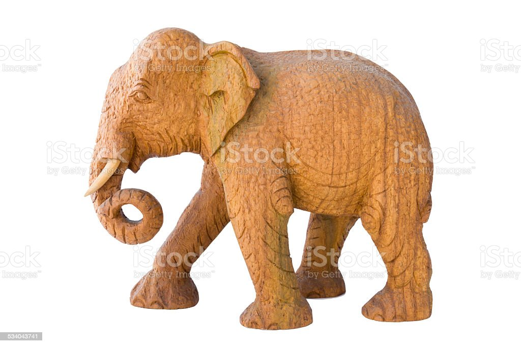 Wooden Elephant stock photo