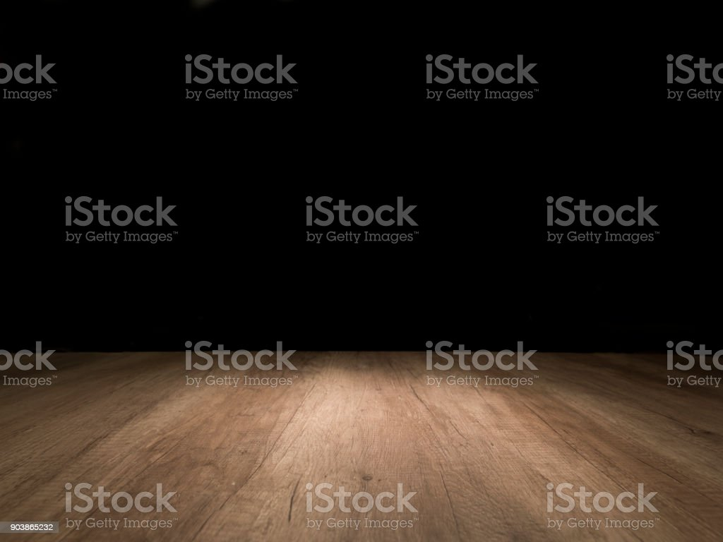 Wooden empty table stock photo