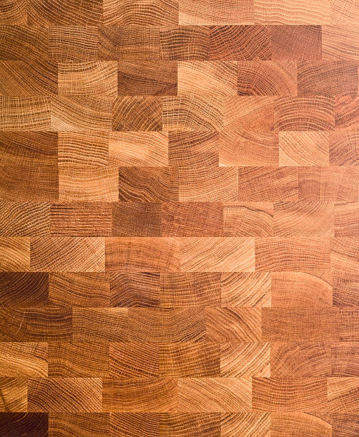 Wooden end-grain chopping board extra large stock photo