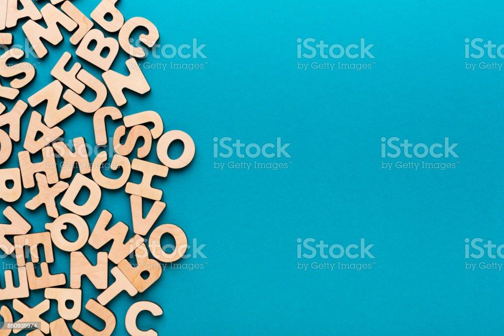 Englische Holzbuchstaben Hintergrund Stock-Fotografie und mehr ...