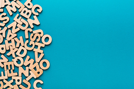 istock Wooden english letters background 850935974
