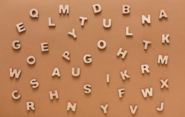 wooden english letters background - alphabetical order stock pictures, royalty-free photos & images