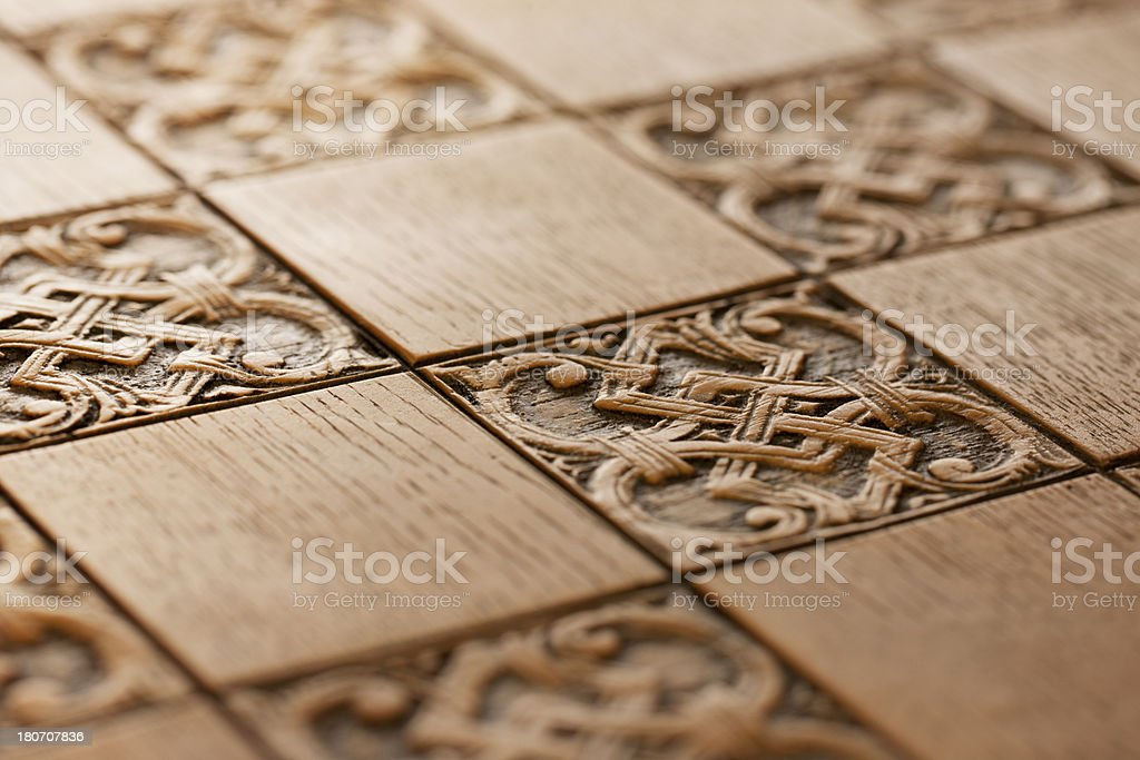Wooden Engravings royalty-free stock photo