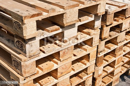 Wooden Euro Palettes background
