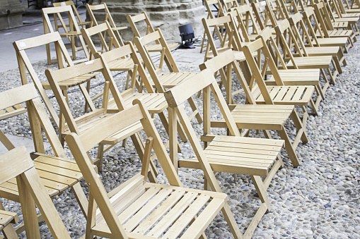 Wooden event chairs