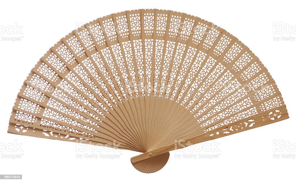 Wooden fan stock photo