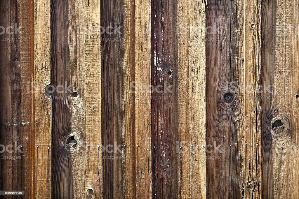 Wooden Fence Close Up royalty-free stock photo