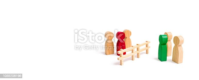 656916072istockphoto A wooden fence divides the two groups discussing the case. Termination and breakdown of relations, breaking ties. Contract break, conflict of interests. Negotiations of businessmen. banner 1055208196