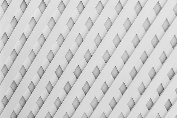 Valla patrón de celosía de madera. - foto de stock