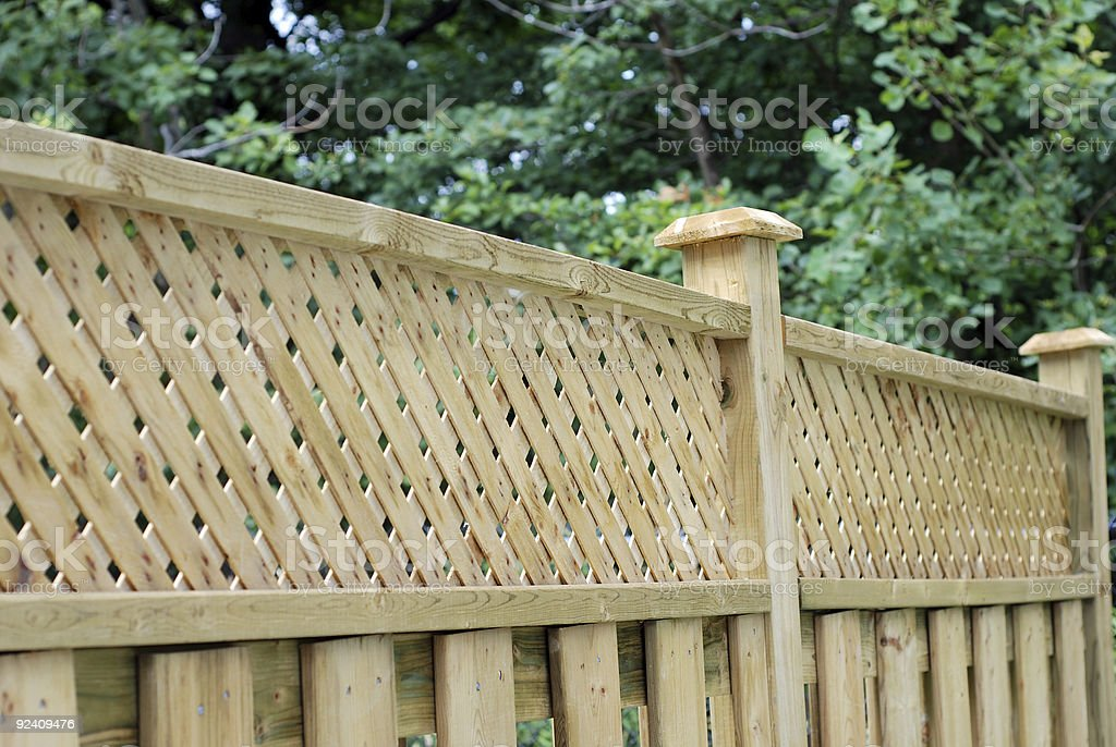 Valla de madera - foto de stock
