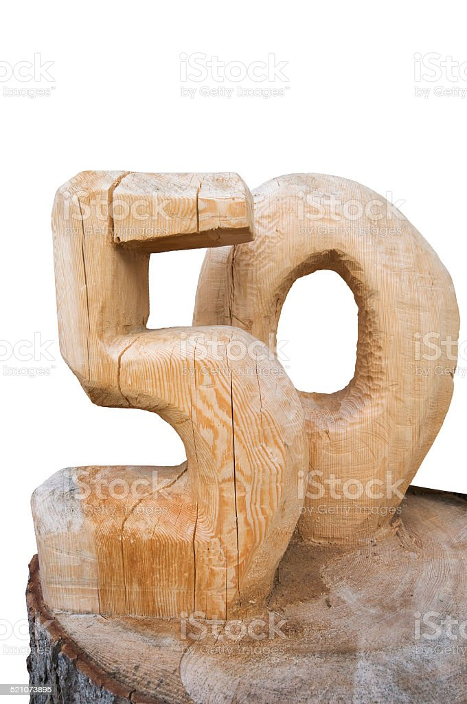 wooden fifty stock photo