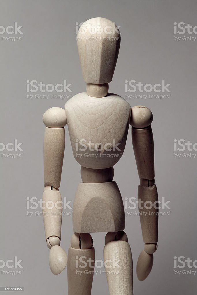 wooden figure royalty-free stock photo
