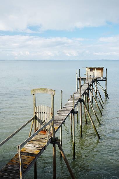 Muelle cabaña de madera - foto de stock