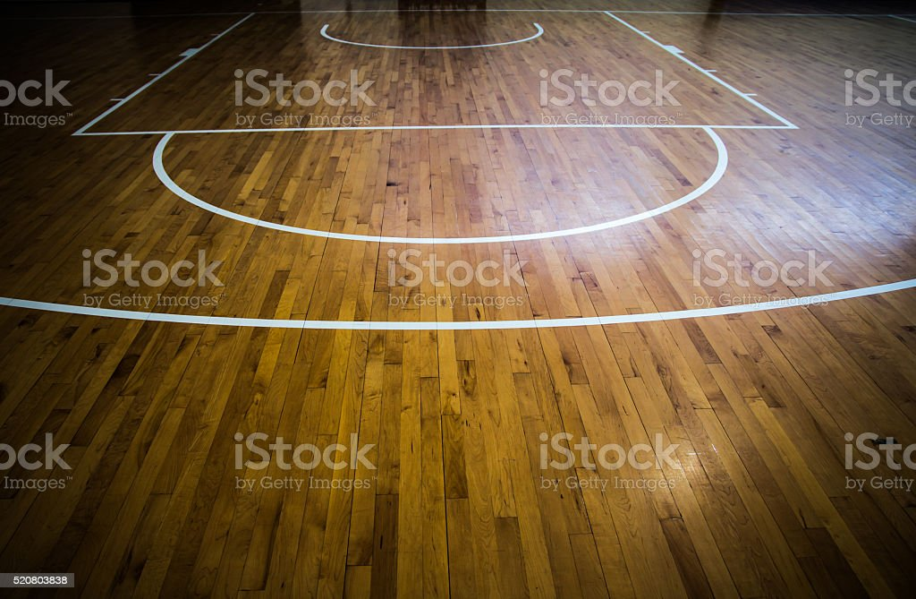 Parquet terrain de basket-ball - Photo
