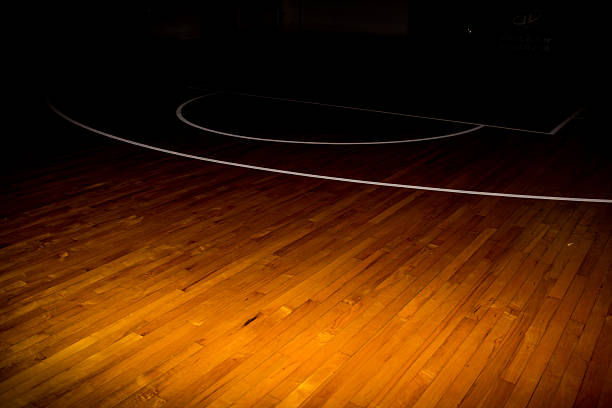 Wooden Floor Basketball Court Stock Photo More Pictures Of Athlete