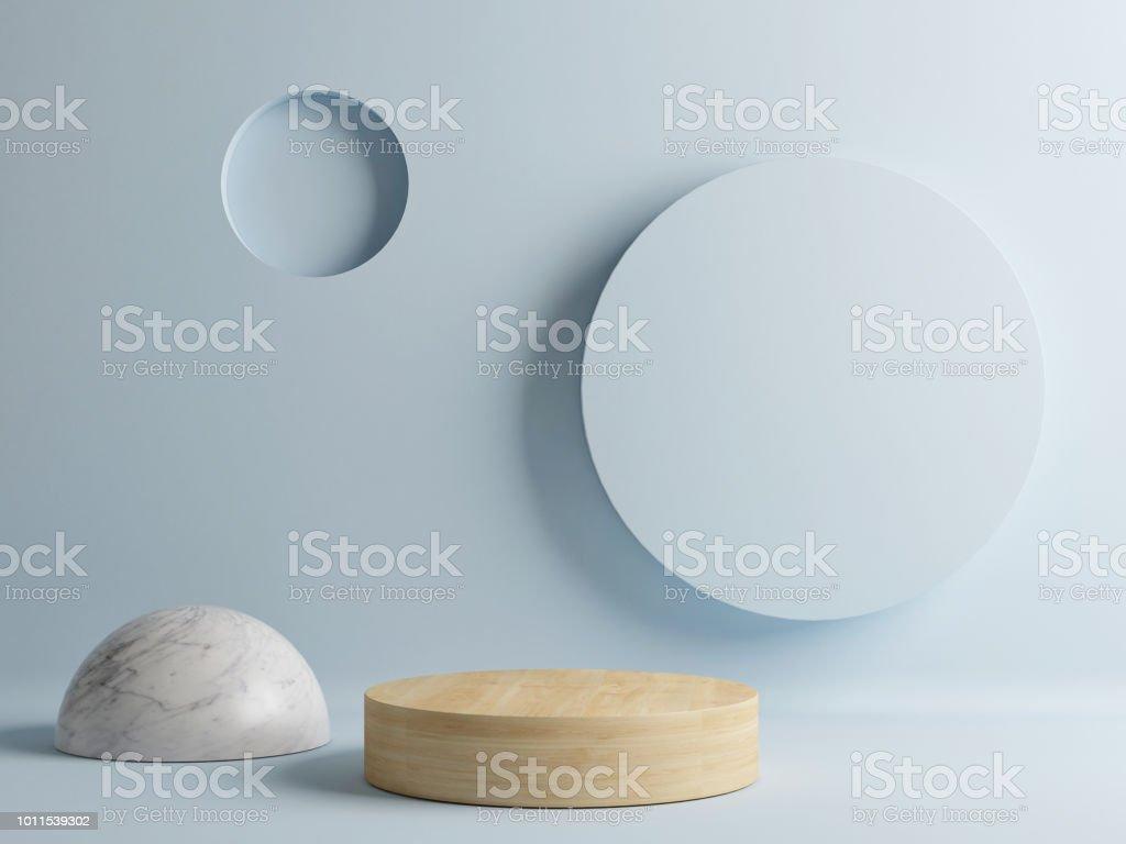 Houten vloer, minimale abstracte scène foto