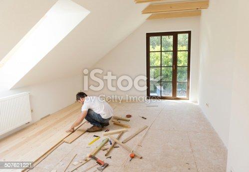 istock Wooden flooring 507621221