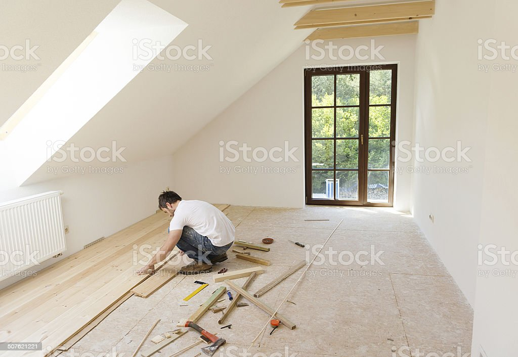 Wooden flooring stock photo