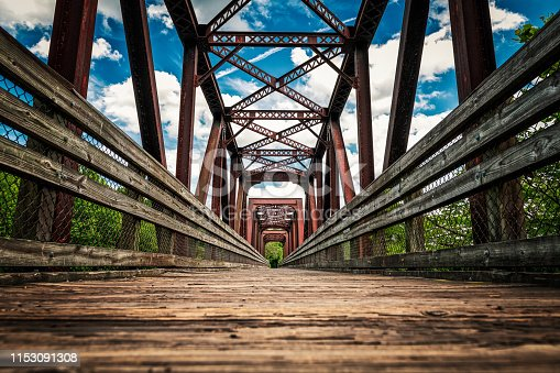 There is nothing better than a long walk on a beautiful day, but Lynchburg has taken the old train tracks and bridges and converted them into a pedestrian path that includes using the old steel bridge. Its hard to not to enjoy on a perfect Sumer day with blue skies and puffy white clouds.