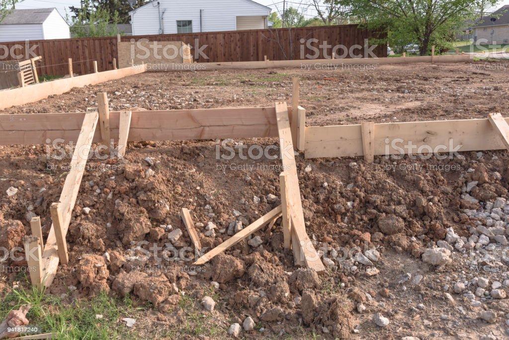 Relativ Hölzernen Schalung Beton Streifenfundament Für Ein Neues Haus AD51
