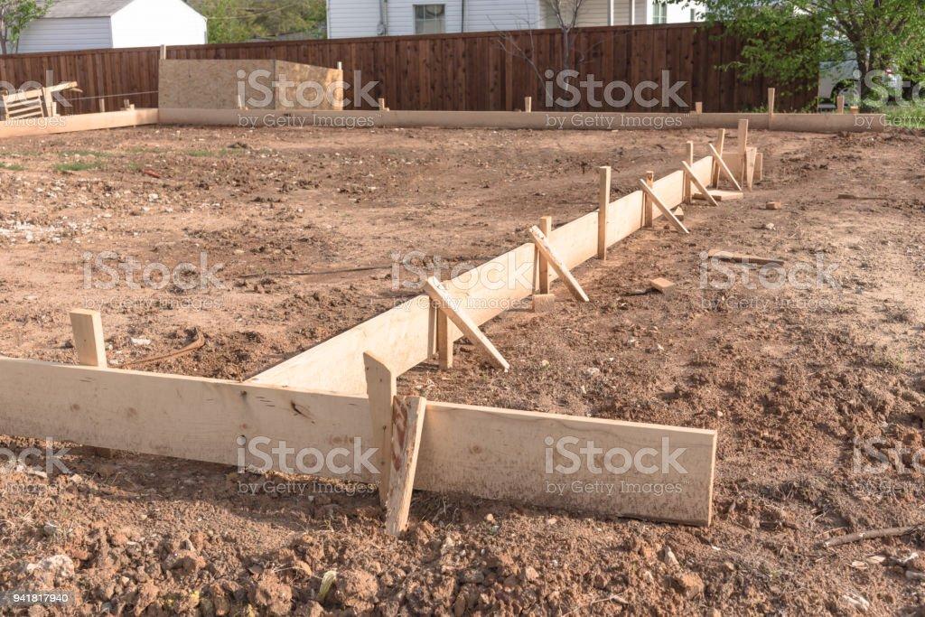 Bekannt Hölzernen Schalung Beton Streifenfundament Für Ein Neues Haus ZS94