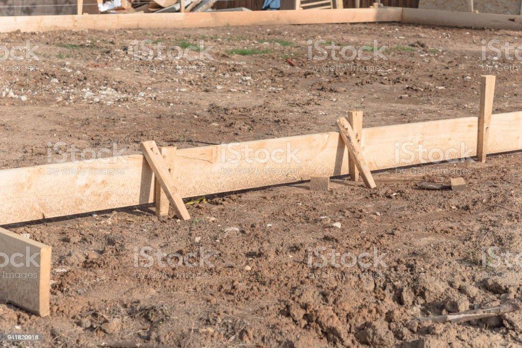 Bevorzugt Hölzernen Schalung Beton Streifenfundament Für Ein Neues Haus VC55