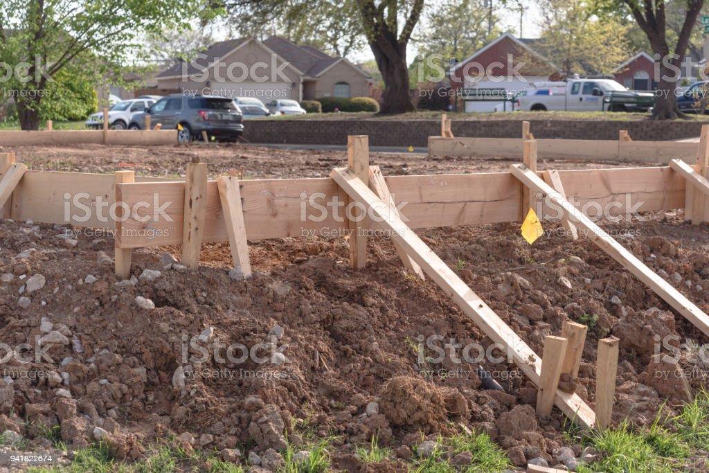 Concrete strip foundations