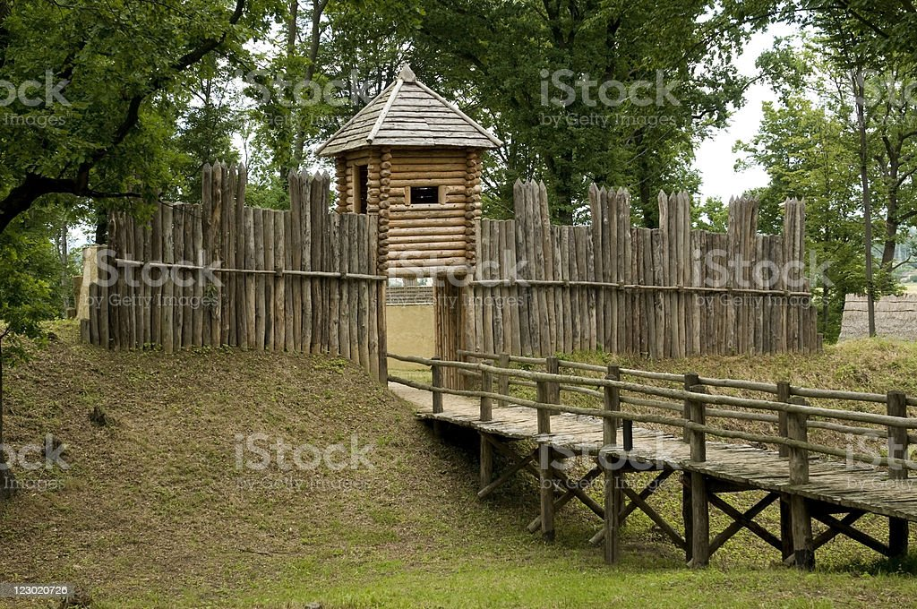 wooden fort royalty-free stock photo