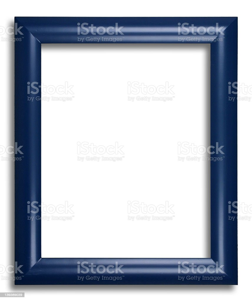Wooden Frame Blue stock photo