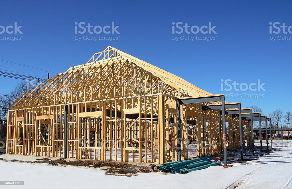 Wooden Frame Construction royalty-free stock photo