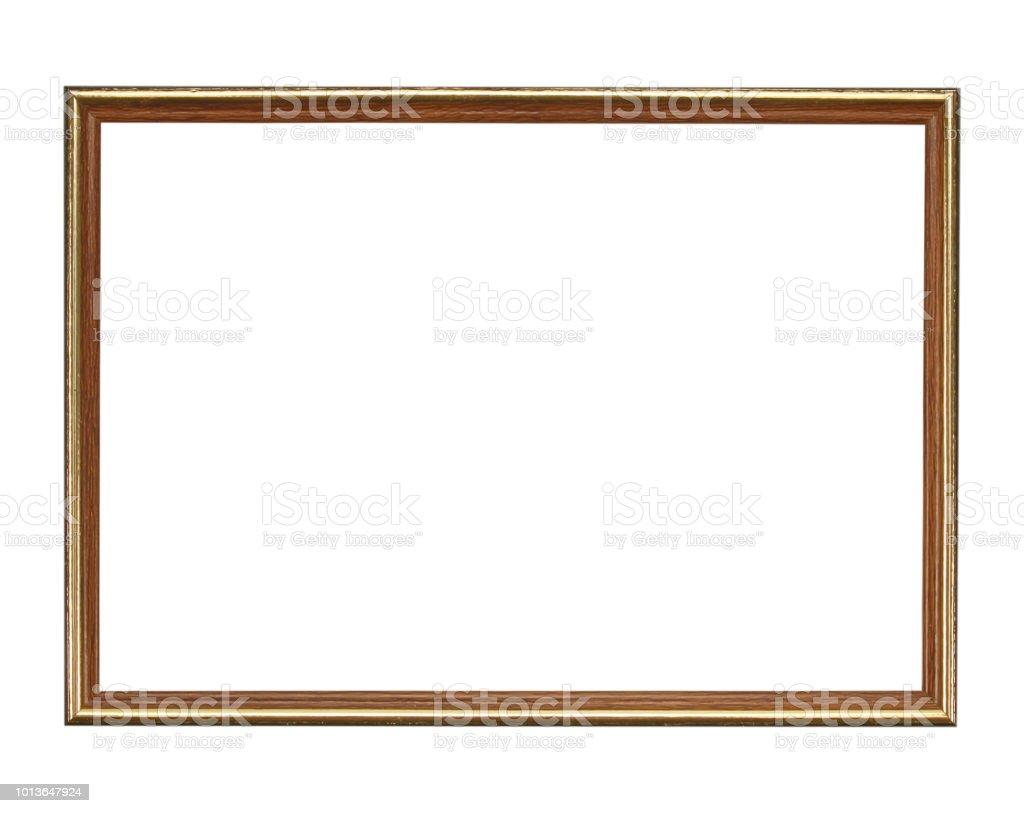 Holzrahmen auf schwarzem Hintergrund isoliert – Foto