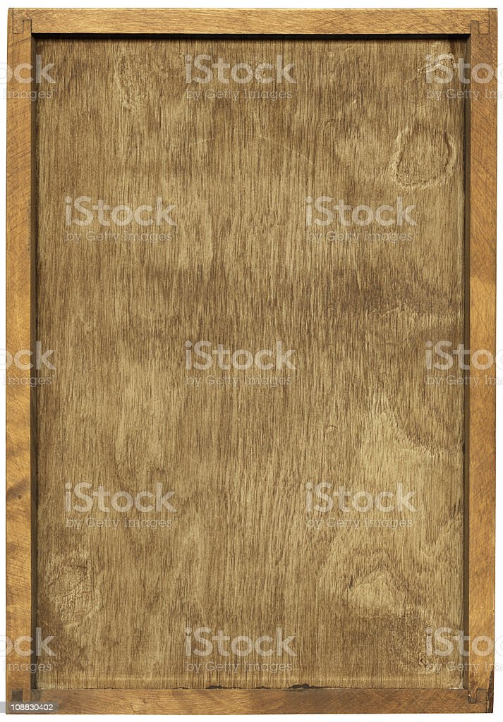 Wooden frame isolated with clipping path on white background stock photo