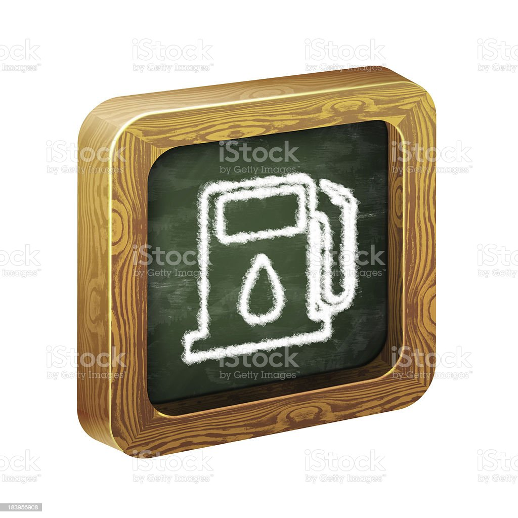 wooden frame of the icon, chalk hand-painted royalty-free stock photo