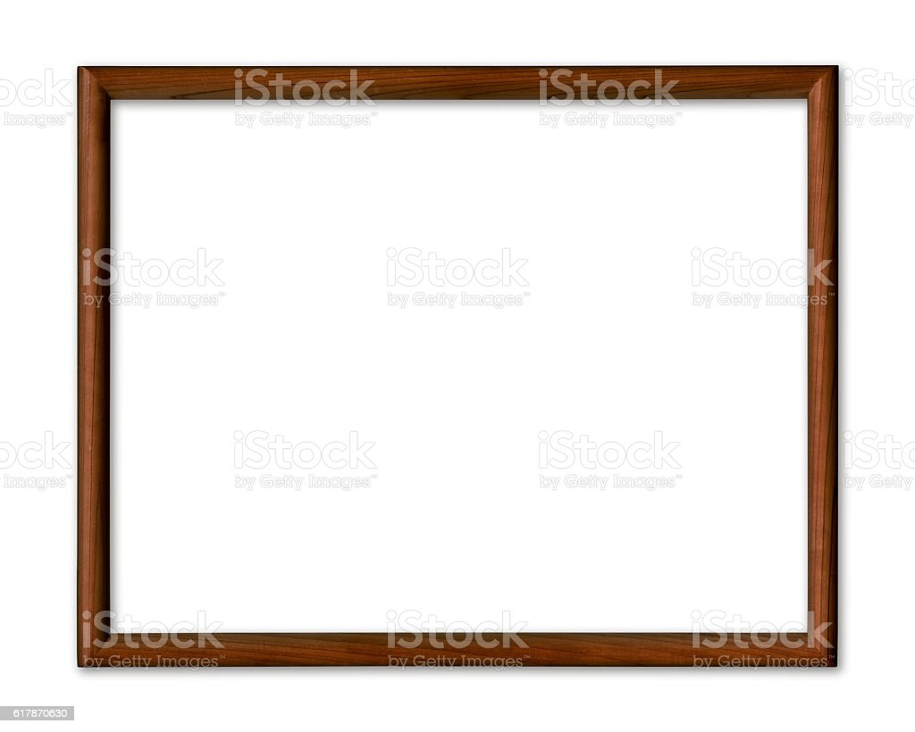 Wooden frame with clipping path stock photo