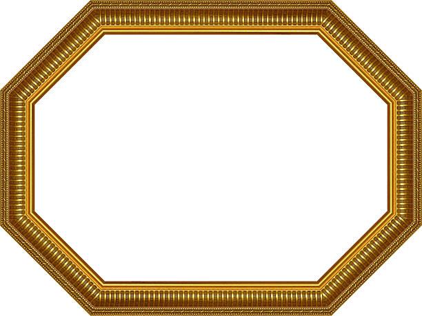 wooden frame,octagon stock photo