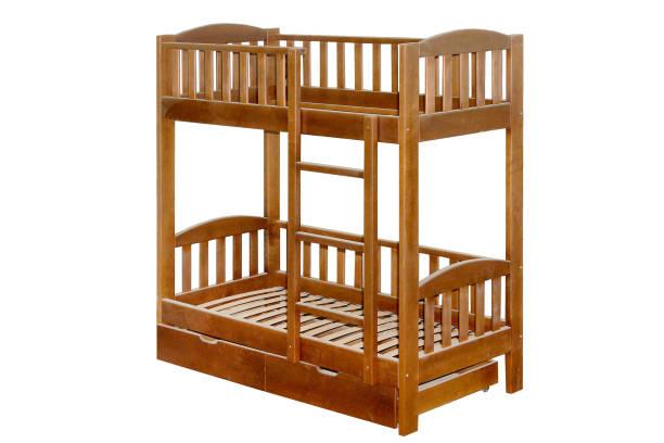 möbel aus holz etagenbett - etagenbett weiss stock-fotos und bilder