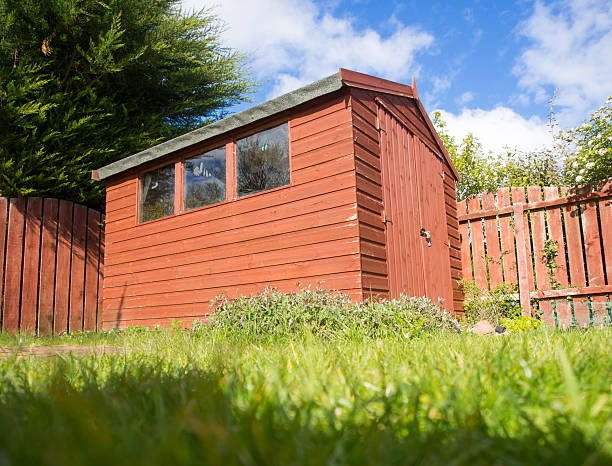 Wooden Garden Shed stock photo