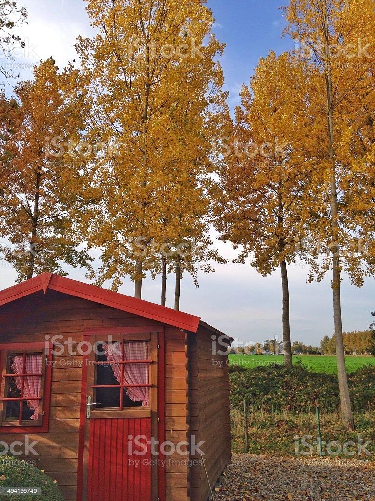 Photo libre de droit de Jardin En Bois Hangar Avec Des Rideaux Dans ...