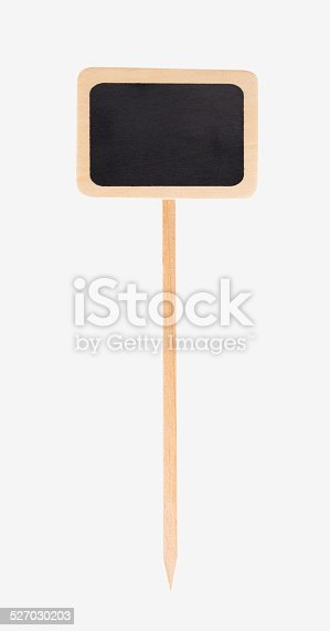 997496254 istock photo wooden garden sign with black chalkboard, isolated 527030203
