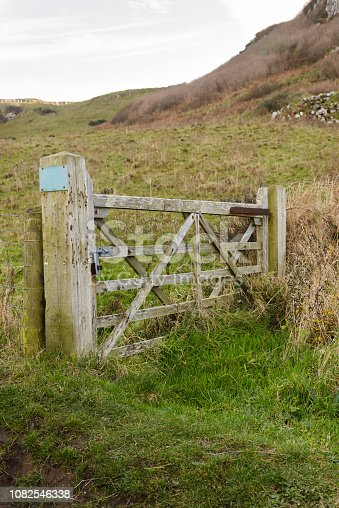 old wooden gate door